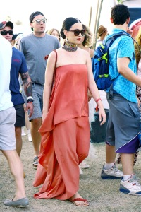 Katy Perry spotted enjoying Coachella with friends in Indio, CA